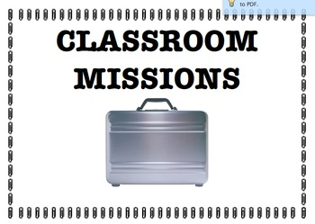 Mission Possible Classroom Theme Job / Bday Charts