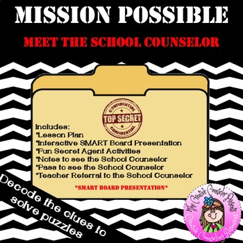 Mission Possible: Meet the School Counselor Introduction Guidance Orientation SB