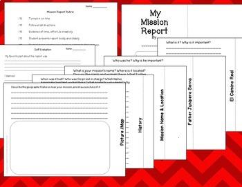 Mission Report 4th Grade California History