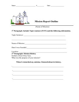 Mission Report Outline  (Aligned with CCSS)
