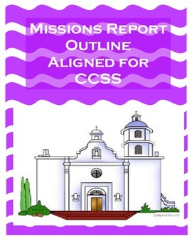 Mission Report Outline English and Spanish COMBO PACK (Aligned with CCSS)