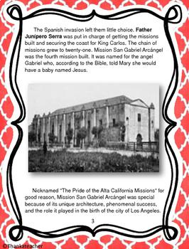 Mission San Gabriel Informational Text & Activities