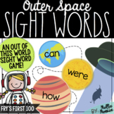 Outer Space Sight Word Game: Fry's First 100