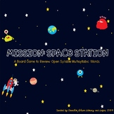 Mission Space Station Board Game (Multisyllabic Words with