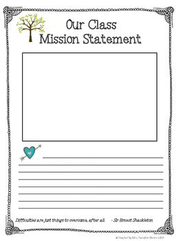 Mission Statement Class Activities