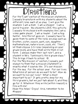 Mission Statements for Kids!