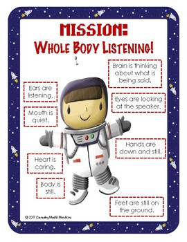 Mission: Whole Body Listening Posters