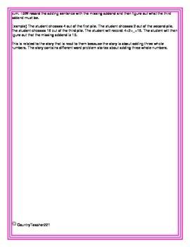 Mission of Addition Mini lesson (Common Core Aligned)
