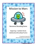 Beginning Readers Phonics Decoding Game - Mission to Mars