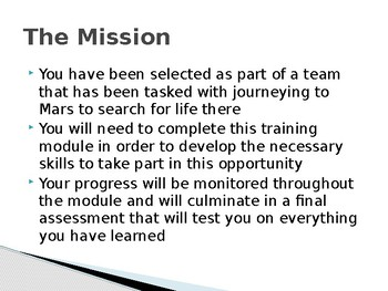 Mission to Mars L1: Mission Brief