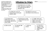 Mission to Mars L16 Mid-Point Assessment (Higher Tier)