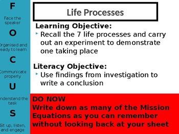 Mission to Mars L2 Life Processes