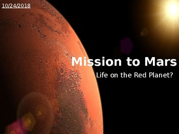 Mission to Mars L3 Fuels - Sources of Energy