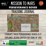 Mission to Mars: Perseverance Rover Tracking Journal INB |