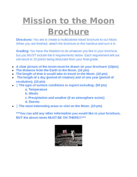 Mission to the Moon Brochure