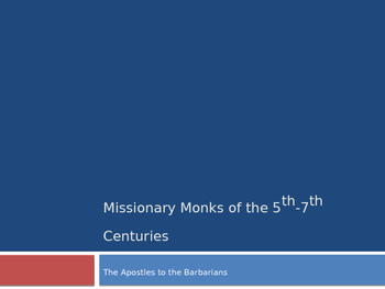 Missionary Monks of the 5th-7th Centuries