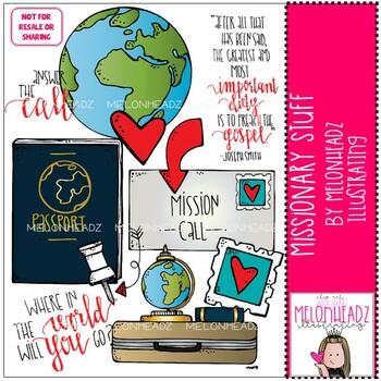 Missionary Stuff clip art - LDS - by Melonheadz