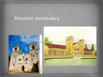 Missions/Colonial Spain Vocabulary
