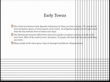 Missions Presidios and Early Towns