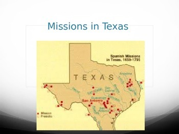 Missions in Texas PowerPoint