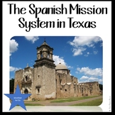 Missions of Texas with Doodle Notes MODIFIED FOR ELL OR 4TH GRADE