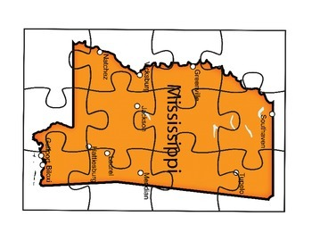 Mississippi Map Puzzle