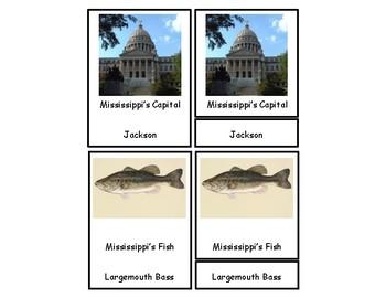 Mississippi 3 Part Cards