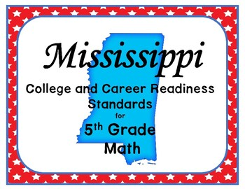 Mississippi 5th Grade College and Career Math Standards