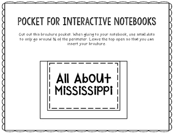 Mississippi - State Research Project - Interactive Notebook - Mini Book