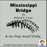 Mississippi Bridge Novel Study Notebook