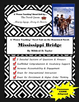 Mississippi Bridge by Mildred D. Taylor--Complex Text Novel Unit