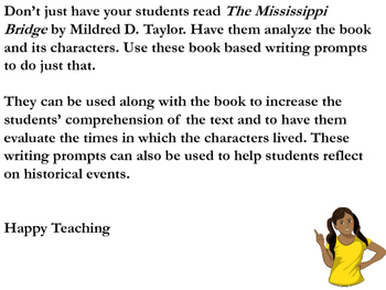 Mississippi Bridge by Mildred D. Taylor Writing Journal