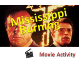 To Kill a Mockingbird pre-reading activity - Mississippi Burning Film Activity