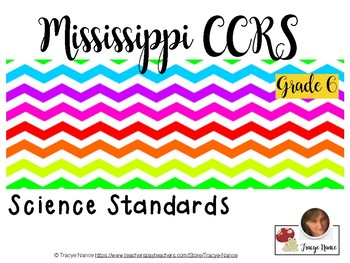 Mississippi CCRS Science Standards - Grade 6 _ Complete Set