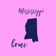 Mississippi Clipart, USA State Vector Clipart, Mississippi Home, Gold US Clipart