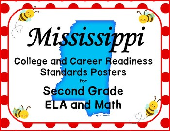 Mississippi College and Career Readiness Standards Posters for 2nd Grade