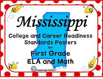 Mississippi College and Career Readiness Standards Posters for First Grade