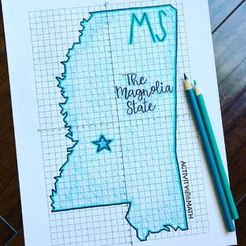 Mississippi Coordinate Graphing Picture 1st Quadrant & ALL 4 Quadrants