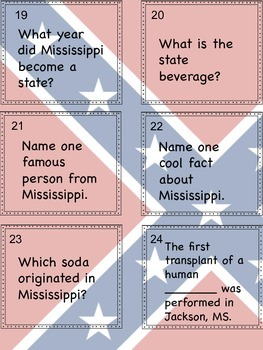 Mississippi Facts Scoot Activity