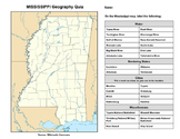 Mississippi Geography Quiz