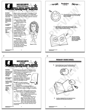 Mississippi History–Interactive Notebook Mississippi State Study Unit + AUDIO!
