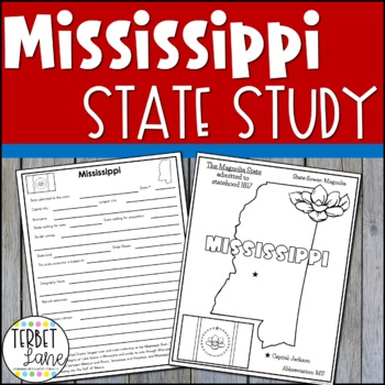 Mississippi History and Symbols Unit Study