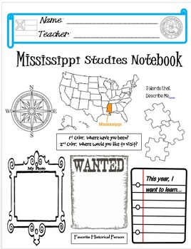 Mississippi Notebook Cover