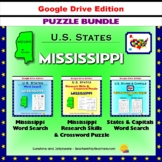 Mississippi Puzzle BUNDLE - Word Search & Crossword Puzzle - U.S States - Google
