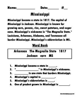 Mississippi Reading Comprehension
