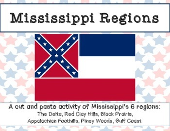 Mississippi Regions: A cut and paste activity
