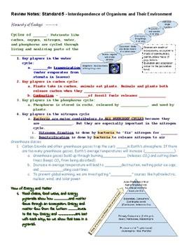 Mississippi Standard 5 (Ecology) Notes