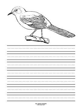 Mississippi State Bird Notebooking Set (Northern Mockingbird)