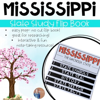 Mississippi State Study Activity Flip Book/ Note Taking Pages
