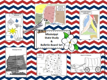 Mississippi State Study & Bulletin Board Set